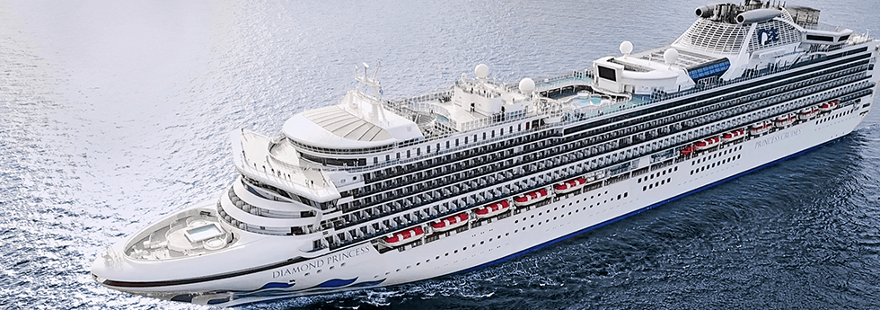 Diamond Princess Cruise aerial